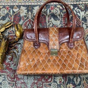 VTG Quilted Leather Large Satchel Bag